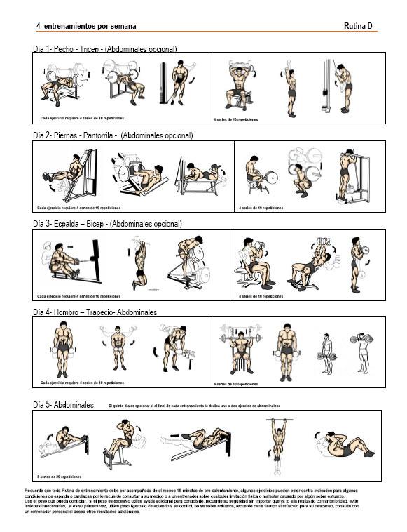 Poderosa rutina de ejercicios para aumentar masa muscular