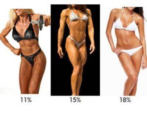 porcentajes de grasa y músculo