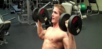 ejercicios de hombros con mancuernas