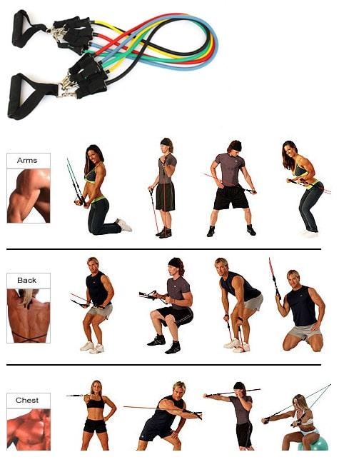 ejercicios con gomas elasticas 1