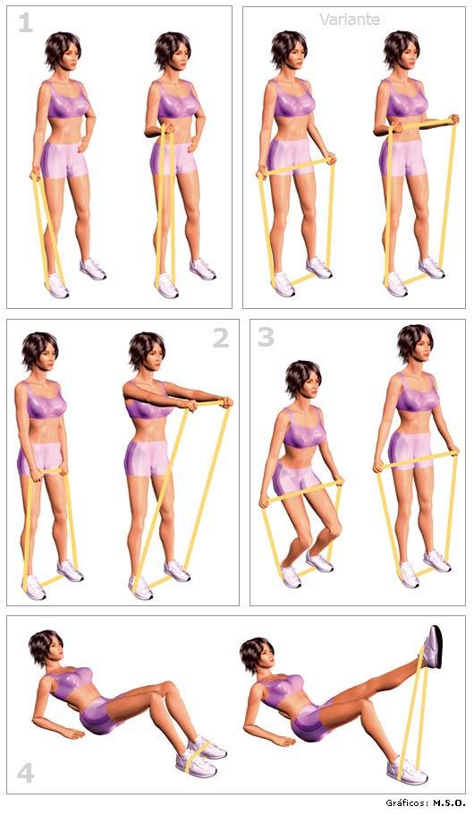 ejercicios con gomas elasticas 2