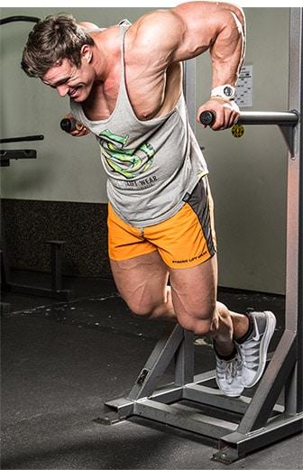 entrenando triceps