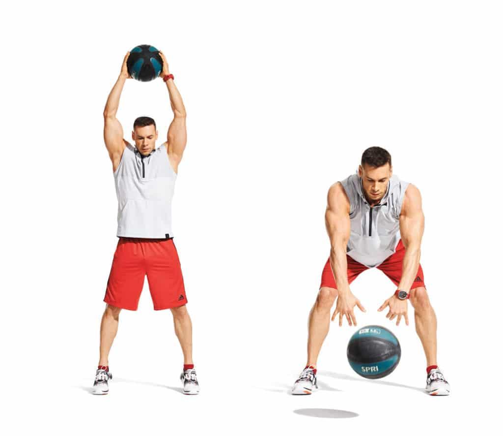 Image result for slam de la bola de medicina ejercicio