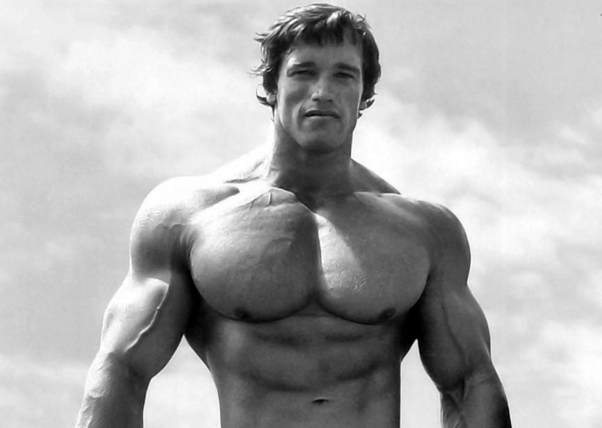 arnold schwarzenegger chest pump