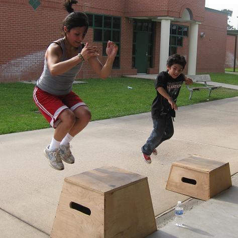 Box jump en concreto