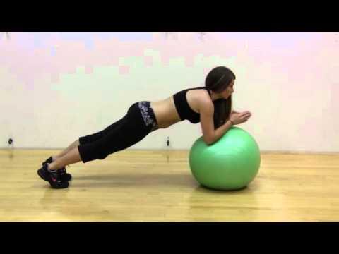 PLancha con pelota de estabilidad