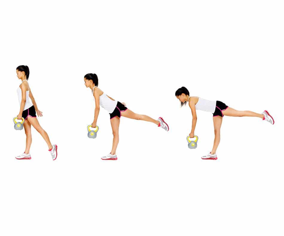 Entrenamiento para principiantes:  levantamiento de peso muerto en una pierna