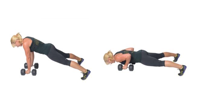 6 Entrenamientos Para Construir Músculo en Casa (Parte II): Push up con manos en las mancuernas