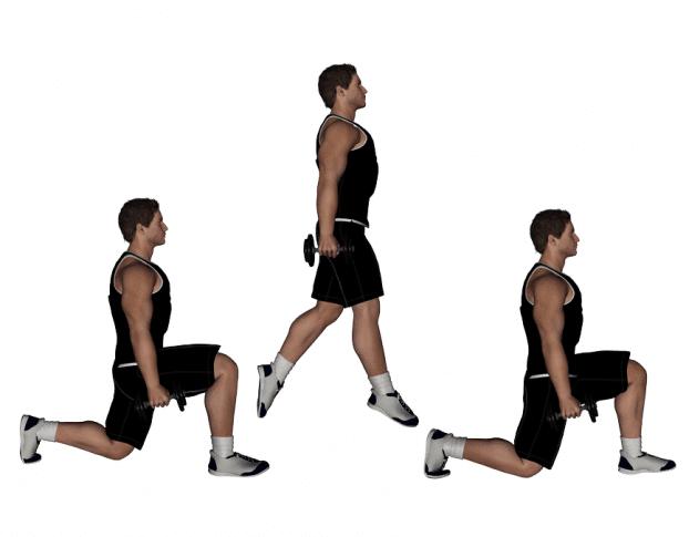 3 Entrenamientos Para Construir Músculo en Casa : Salto con sentadilla alternada