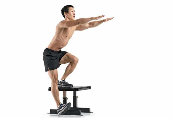 3 Entrenamientos Para Construir Músculo en Casa: Sentadilla de una sola pierna