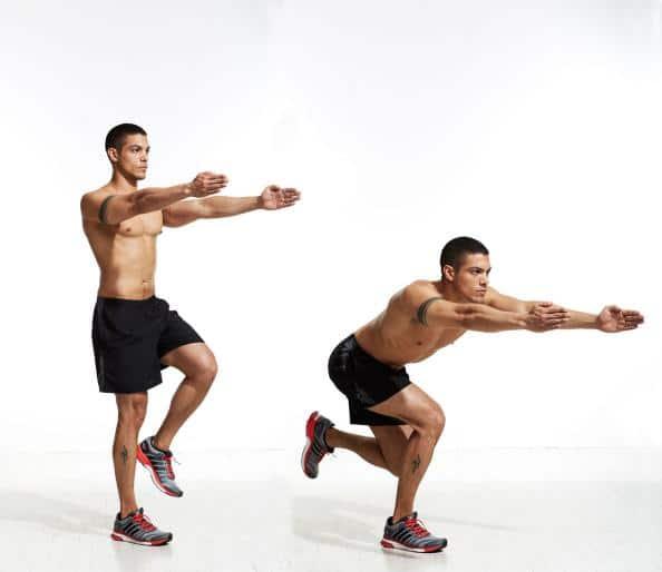 3 Entrenamientos Para Construir Músculo en Casa : Sentadilla de patinador