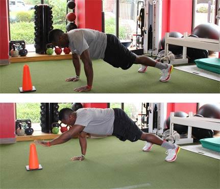 6 Entrenamientos Para Construir Músculo en Casa (Parte II): Push up con alcance por encima de la cabeza