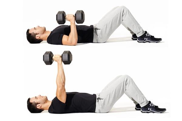 6 Entrenamientos Para Construir Músculo en Casa (Parte II): Press de piso