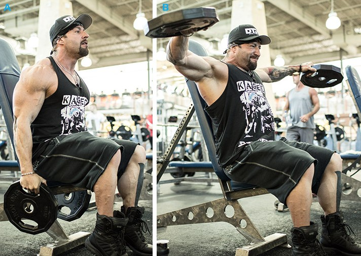 rutina para entrenar los hombros