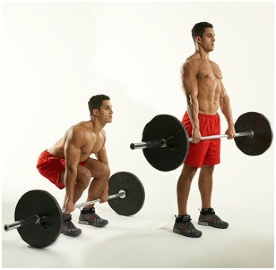 Movimientos para mejorar la fuerza corporal: levantamiento de peso muerto