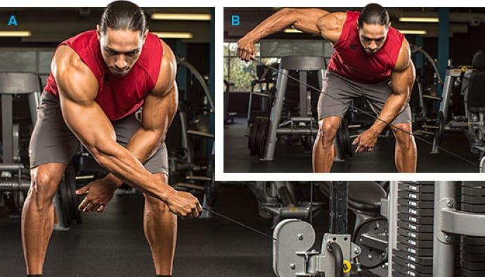 El entrenamiento extremo de hombros y tríceps a