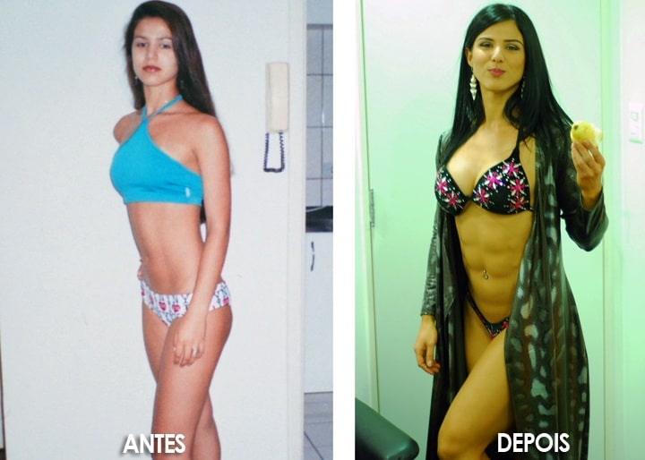 Eva Andressa antes y después