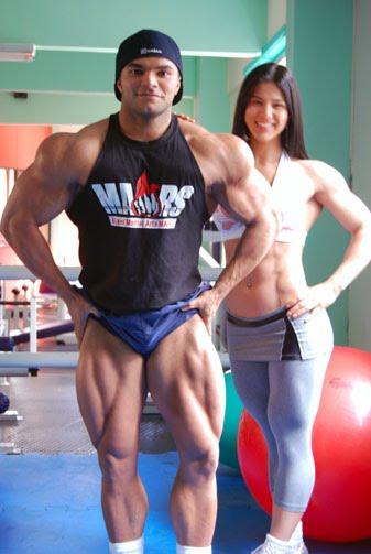 Jardel Barros y Eva Andressa