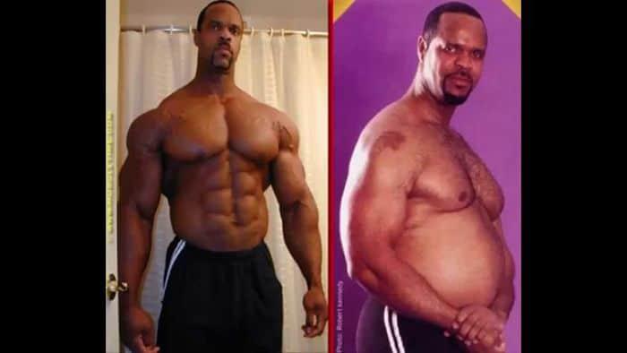 Antes y después de un culturista