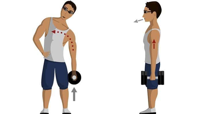 Flexiones laterales para lumbares