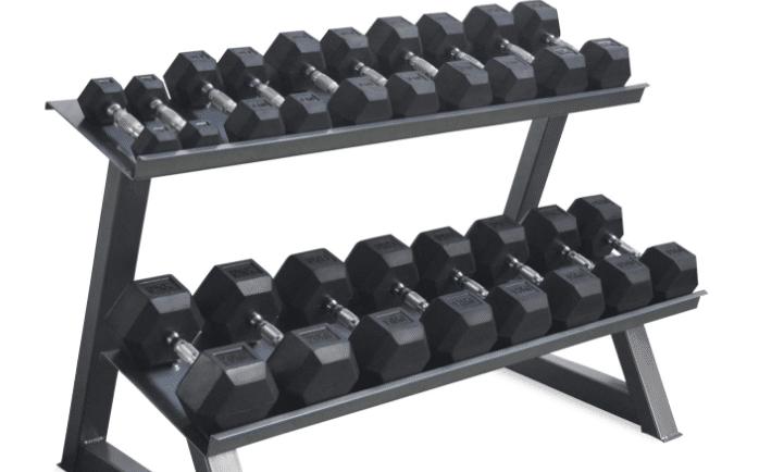 Mancuernas de un gym