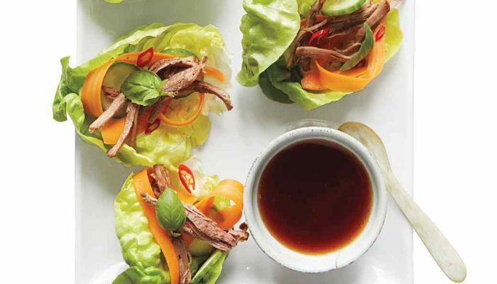 dieta de volumen de 3000 calorias thai de ternera con enrollado de lechuga