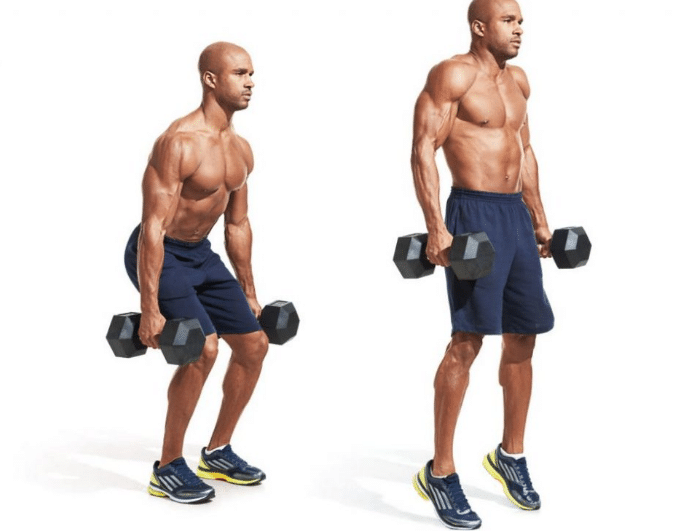 Encogimiento de hombros con salto