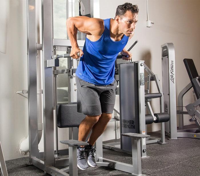 crecimiento de tríceps