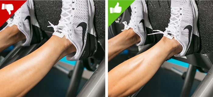 errores al ejercitar las piernas